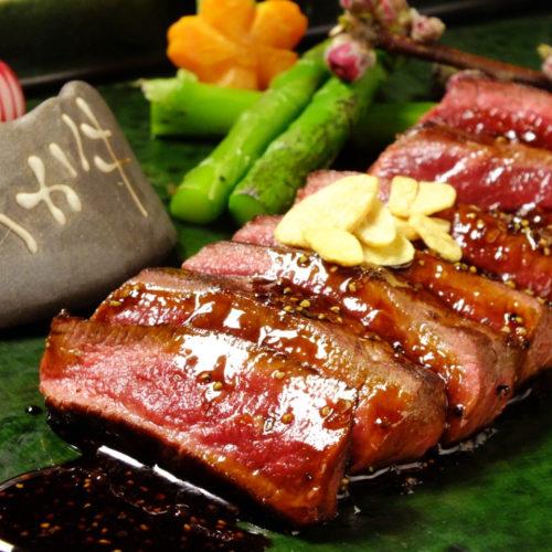 熊本あか牛炭火焼ステーキコース